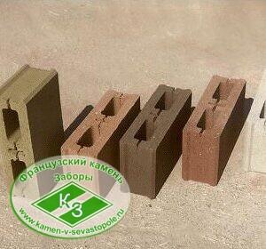 Блок заборный с фаской (для бесшовного соединения)